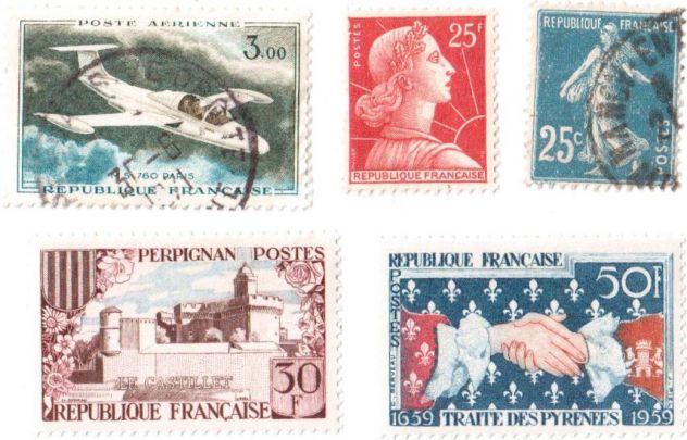 Francobolli da collezione Francia