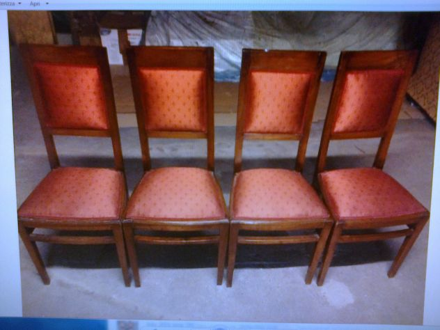 Sedie Depoca : 4 sedie depoca in noce annunci cremona