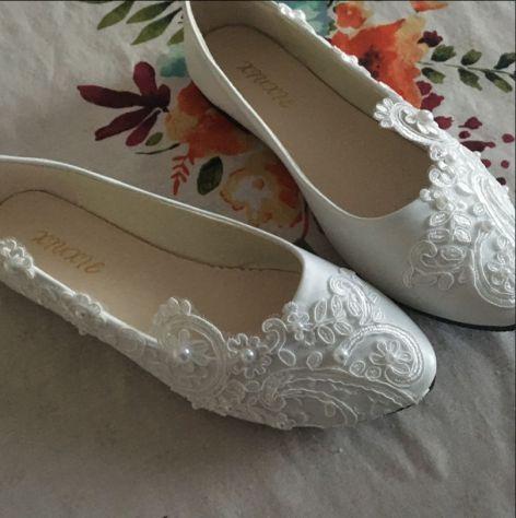 cerca il più recente scarpe casual salvare Scarpe matrimonio ballerine shoes flat tacco suola rasoterra sposa