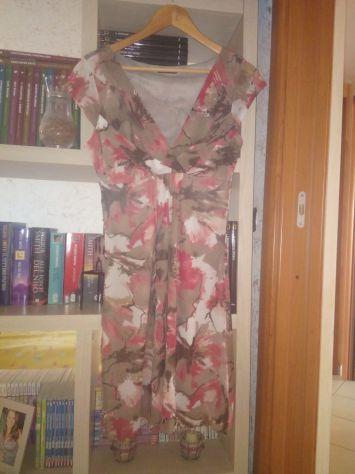 Vestito floreale lungo estivo scollo a V
