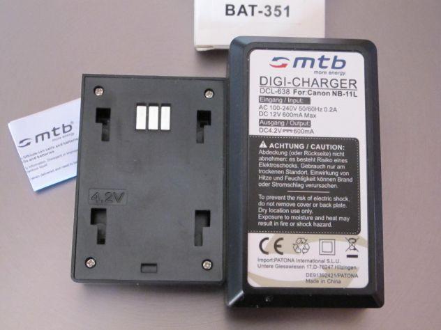 MTB digi-charger  DCL-638 canon NB-11L +2 bat.-Li-ion351 - Foto 7