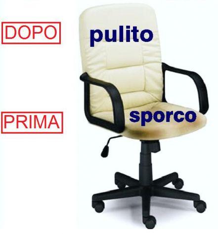 Lavaggio e Igenizzazione divani poltrone sedie da ufficio a