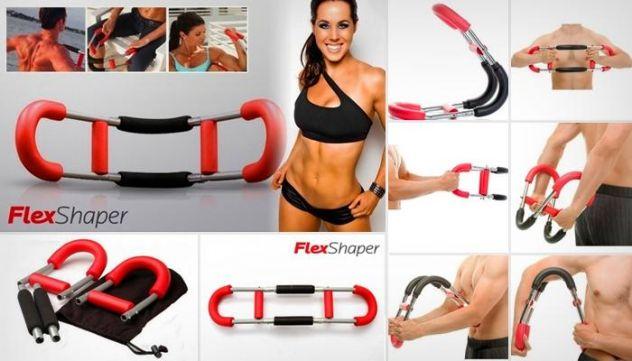 Flex Shaper Attrezzo Da Palestra Addominali Muscoli Fitness Bicipiti Tricipidi