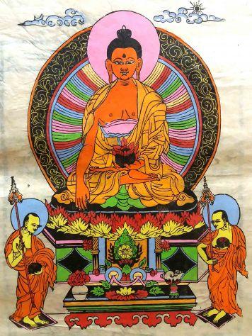 Xilografie su carta di riso, del Nepal del 1971-n° tot. 140-38 sono a colori