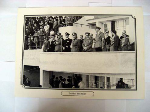 Riproduzione foto a Livorno titolo-SVASTICA ALLO STADIO- serie - ANNI DI GUERRA