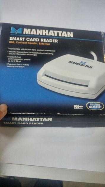 Smart card trader Manhattan nuova mai usata x cessione attivita USB, lettore a c