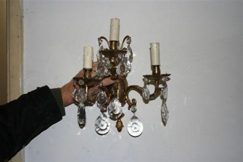 Lampadario di prestigio anni 50 2 applique in cristallo annunci roma