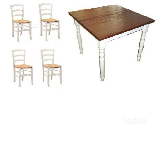 Set Tavoli sedie ristorante cod 102 shabby chic