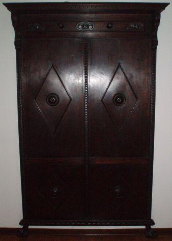 Antico appendiabiti attaccapanni portaombrelli cappelliera in legno -inizio '900
