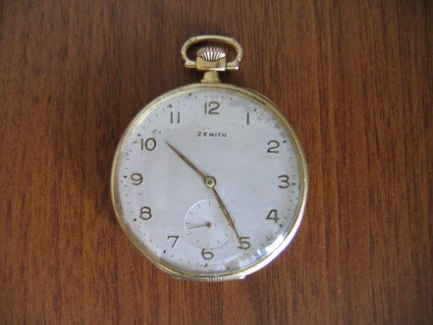 Orologio da Tasca Taschino Cipolla ZENITH Oro 18 K - Primi '900
