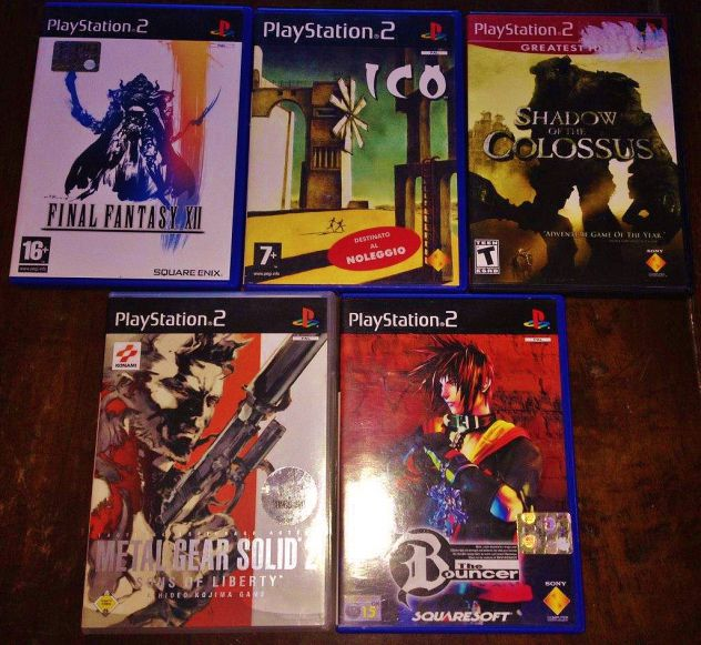 Lotto ps2 final fantasy the bouncer ico shadow of the colossus metal gear soldid
