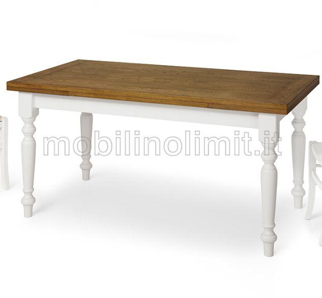Tavolo allungabile bicolore- L.160 cm - Nuovo