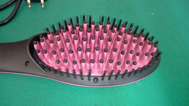 Spazzola per capelli lisciante elettrica piastra in ceramica ionica