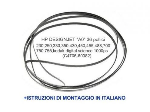Cinghia per plotter HP designjet modelli 230,250,350,330,430,450,455,488,70 … - Foto 2