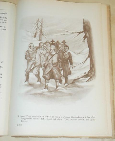 Il giro del mondo in ottanta giorni, Jules Verne, EDITRICE CAROCCIO MILANO 1951. - Foto 5