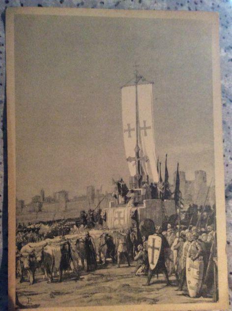 CARTOLINA PRO ASSISTENZA REDUCI DALLA GERMANIA, ANNO 1945/50