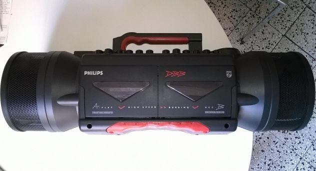Philips AW7190 boombox radio/cassette stereo