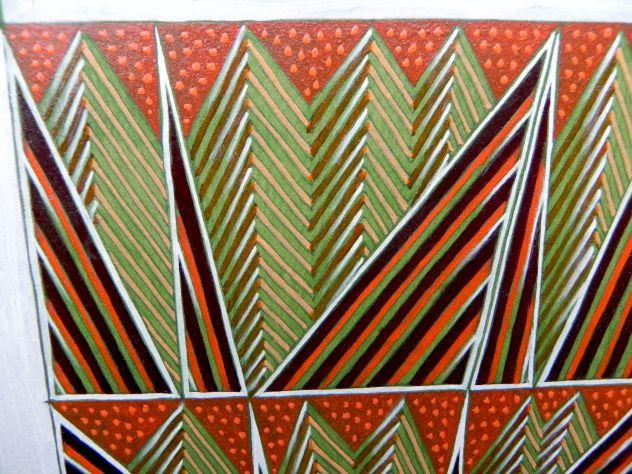 Dipinto ad olio su carta, astratto - Foto 9