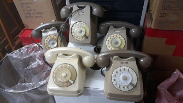 SERIE DI TELEFONI A DISCO SIP VINTAGE