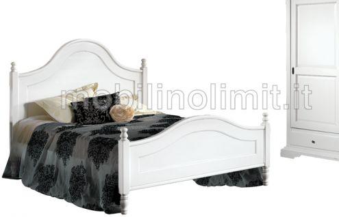 Letto Matrimoniale - Bianco Opaco - Nuovo