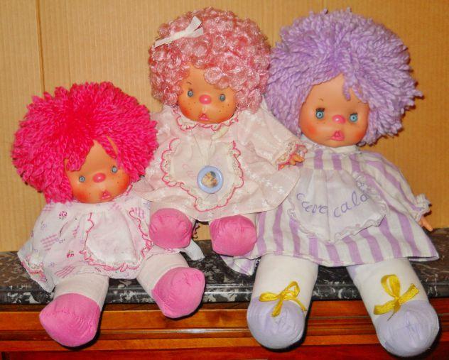 Lotto 3 bambole cuore caldo el greco cuorecaldo gig vintage collezione anni 80