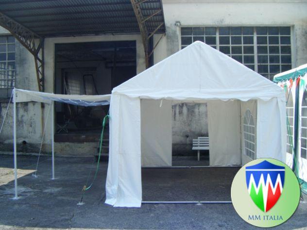 Tendone Gazebo 3 x 4 Professionale pvc Alta densita Ignifugo Gold MM - Foto 8