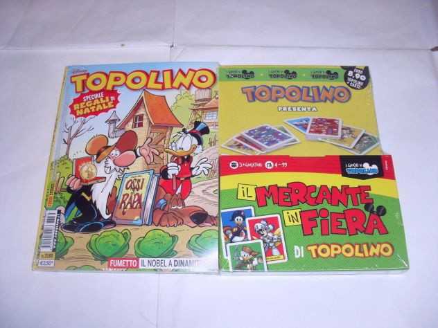 GADGET TOPOLINO n°3185 / Carte il Mercante in Fiera