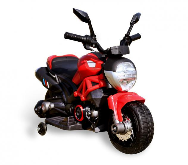 Moto elettrica per bambini HUNTER LT885 con rotelle 6V luci led naked | Rosso