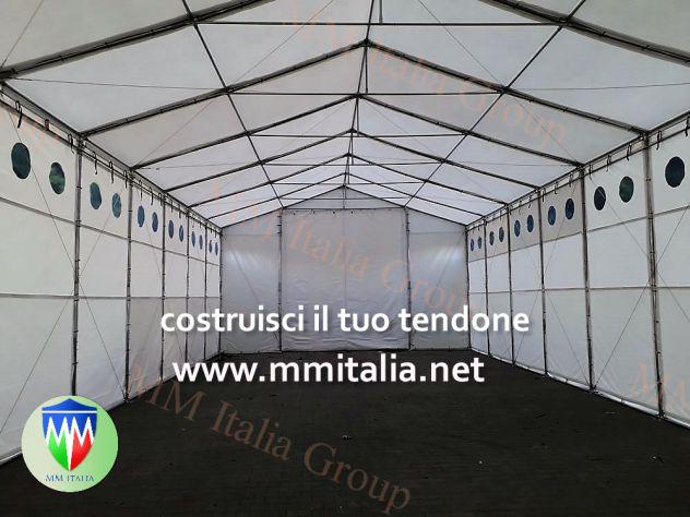 TENDONI AGRICOLI, STALLE MOBILI 8 X 18 X 3,96 MT. MM ITALIA