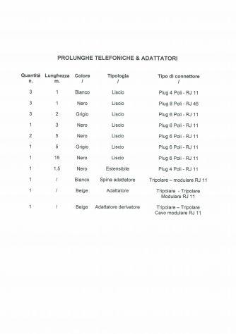 PROLUNGHE TELEFONICHE & ADATTATORI - Foto 8