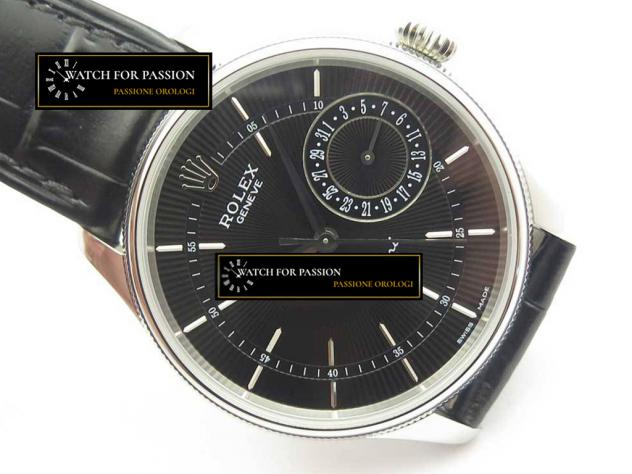 REPLICA ROLEX CELLINI REAL DATE  BEST EDITION QUADRANTE NERO E LANCETTE NER … - Foto 3