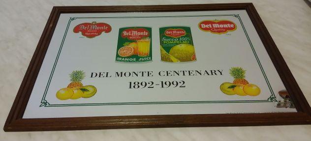Quadro a specchio Del Monte centenario pubblicitario limited edition