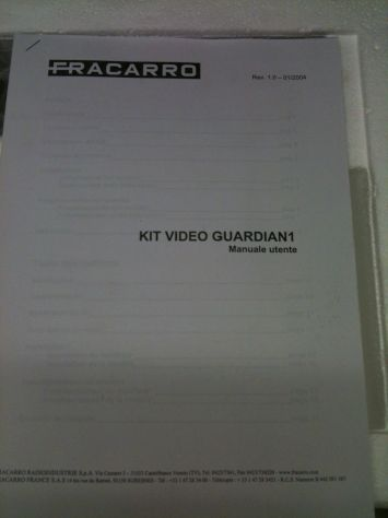 Kit videosorveglianza fracarro mai usato