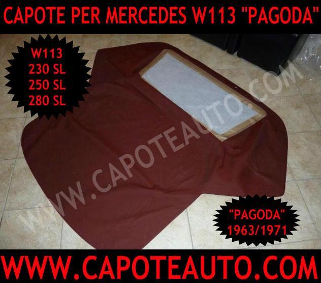 Capote Mercedes Pagoda cabrio 113 230 250 280 Nuovo Euro 710