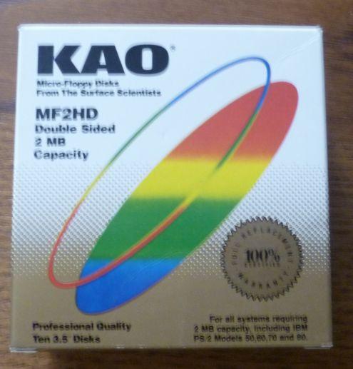 Kao Micro Floppy Disk 3.5