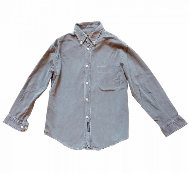 Woolrich camicia bimbo in velluto a coste 100% cotone, grigio 10 anni