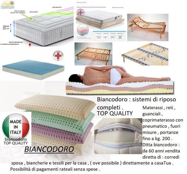 Materassi Lecce.Materassi Pregiati In Memory Carbonio Argento Lino E Seta