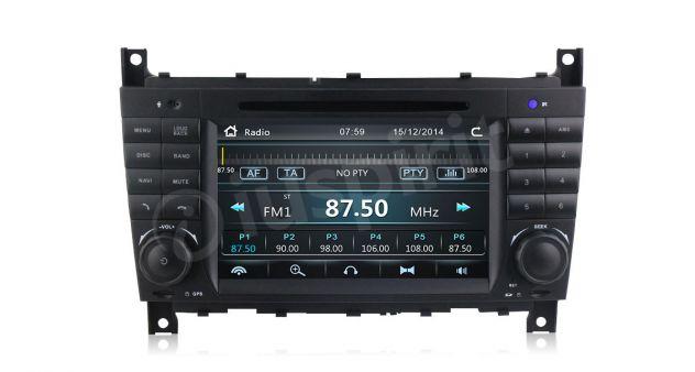 Autoradio 2DIN navigatore Mercedes W203 W209 W203 W407 W467 C200 C220 - Foto 8