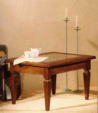 Tavolino da salotto con vetro stile arte povera cod 10942