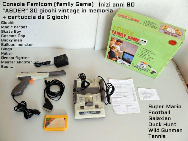 Console vintage famicom, 26 giochi retrò,