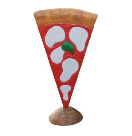 Insegna pizza: spicchio di pizza a totem in vetroresina a UDINE - Foto 2