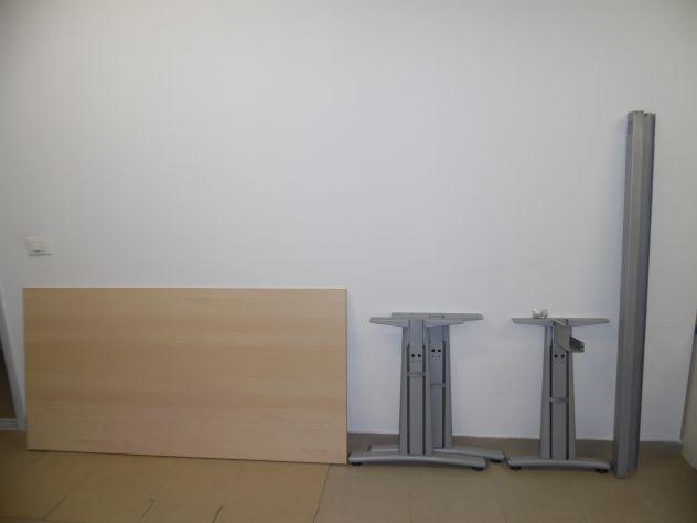 Scrivania In Legno Chiaro : Scrivania tavolo grande come nuova completa in legno chiaro