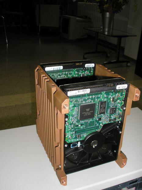 Supporto per 2 HDisk di raffreddamento in rame arigianale - Foto 4