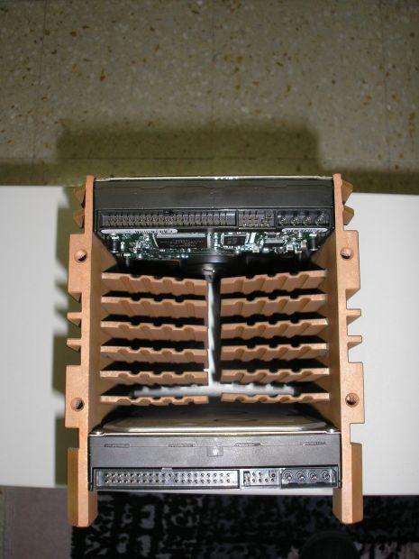Supporto per 2 HDisk di raffreddamento in rame arigianale - Foto 5