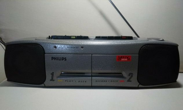 Philips Moving Sound 4Th Ed. boombox stereo doppio autoreverse (LEGGERE TESTO)