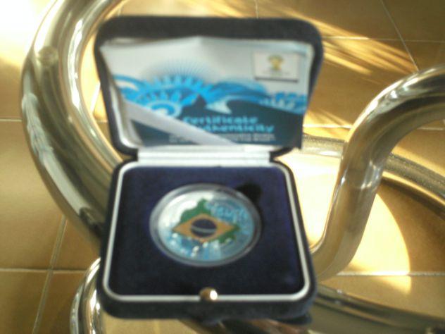 Medaglia argento Fifa World Cup 2014 Brasile