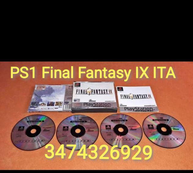 Gioco PS1 FInal Fantasy IX PAL ITA Completo e in ottime condizioni