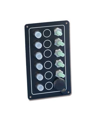 Pannello elettrico 5 interuttori con presa 12 V - Foto 2