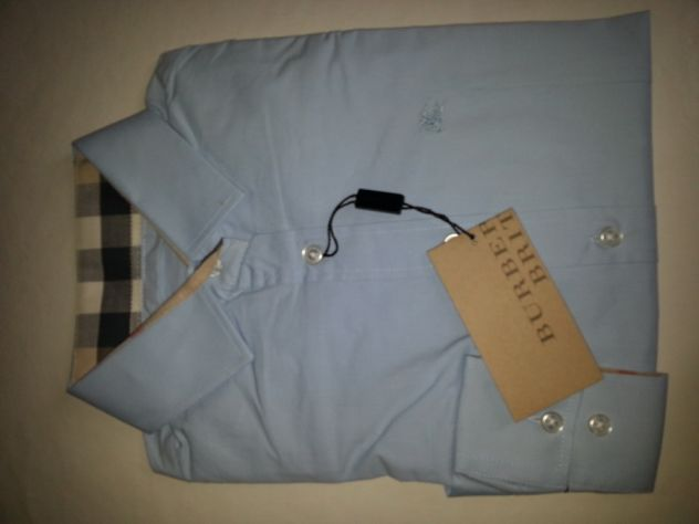 Camicia donna Burberry nuova originale celeste TgM