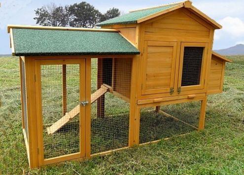 Pollaio in legno per galline anatre e polli NUOVO spedizione GRATIS